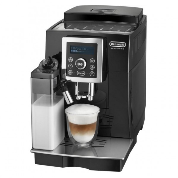 Кофемашина Delonghi ECAM 23.460.BКофеварки и кофемашины<br>DeLonghi ECAM 23 460 B: высший уровень во всем.<br><br> Чтобы купить кофемашину вашей мечты, вовсе не нужно тратить часы, дни и даже месяцы, чтобы подобрать подходящую модель. Достаточно лишь взглянуть на кофемашину DeLonghi ECAM 23 460 B, что понять — это именно то, что вы хотели!<br><br>Взгляните сами на ее возможности и характеристики: контроль крепости кофе, регулировка порций горячей воды, предварительное смачивание, автоматическая декальцинация, капучинатор, регулировка жесткости воды и степени помола. Прочитайте подробное описание этой кофемашины, чтобы узнать о ее...<br><br>Тип : кофеварка эспрессо<br>Тип используемого кофе: Зерновой\Молотый<br>Мощность, Вт: 1450<br>Объем, л: 1.8<br>Давление помпы, бар  : 15<br>Материал корпуса  : Пластик<br>Встроенная кофемолка: Есть<br>Емкость контейнера для зерен, г  : 240<br>Одновременное приготовление двух чашек  : Есть<br>Контейнер для отходов  : Есть