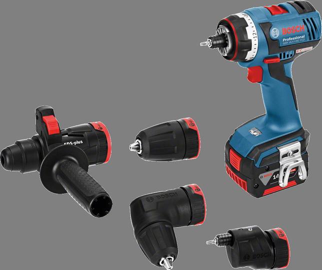 Дрель-шуруповерт Bosch GSR 14,4 V-EC FC2 4.0Ah x2 L-BOXX [06019E1001]Дрели, шуруповерты, гайковерты<br>- Встроенный держатель бит подходит для фиксации любых стандартных насадок-бит<br>- Компактный дизайн – короткое исполнение &amp;#40;147 мм&amp;#41; и малый вес &amp;#40;1,6 кг, GSR 14,4 V-FC2&amp;#41; обеспечивают высокоточную работу<br>- Высокая эффективность — заворачивание до 686 шурупов &amp;#40;6 x 60 мм&amp;#41; в мягкую древесину на всего одной зарядке аккумулятора &amp;#40;14,4 В – 4,0 А*ч&amp;#41;<br>- Высокая мощность – исключительно высокий крутящий момент благодаря инновационной концепции редуктора и новому 4-полюсному двигателю высокой мощности Bosch<br>- Встроенная светодиодная подсветка для освещения рабочей...<br><br>Тип: дрель-шуруповерт<br>Тип инструмента: безударный<br>Тип патрона: быстрозажимной<br>Количество скоростей работы: 2<br>Питание: от аккумулятора<br>Тормоз двигателя: есть<br>Возможности: реверс, фиксация шпинделя, электронная защита от перегрузок, электронная регулировка частоты вращения, бесколлекторный (бесщеточный) двигатель<br>Тип аккумулятора: Li-Ion<br>Съемный аккумулятор: есть<br>Дополнительный аккумулятор: есть