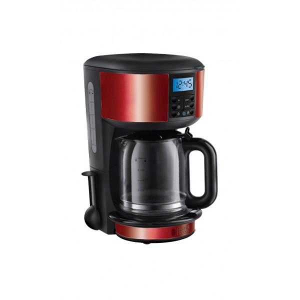 Кофемашина Russell Hobbs 20682-56Кофеварки и кофемашины<br><br><br>Мощность, Вт: 1000<br>Объем, л: 1.25<br>Фильтр  : Постоянный /Одноразовый<br>Материал корпуса  : Пластик<br>Плита автоподогрева: Есть<br>Одновременное приготовление двух чашек  : Нет<br>Съемный лоток для сбора капель  : Нет