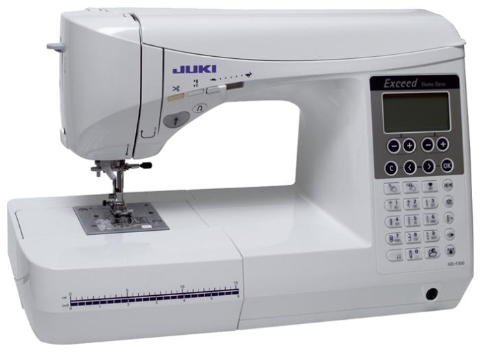 Швейная машина Juki HZL-F300Швейные машины<br><br><br>Тип: электронная<br>Тип челнока: ротационный горизонтальный<br>Вышивальный блок: нет<br>Количество швейных операций: 106<br>Выполнение петли: автомат<br>Число петель: 16<br>Максимальная длина стежка: 5.0 мм<br>Максимальная ширина стежка: 7.0 мм<br>Потайная строчка : есть<br>Эластичная строчка : есть