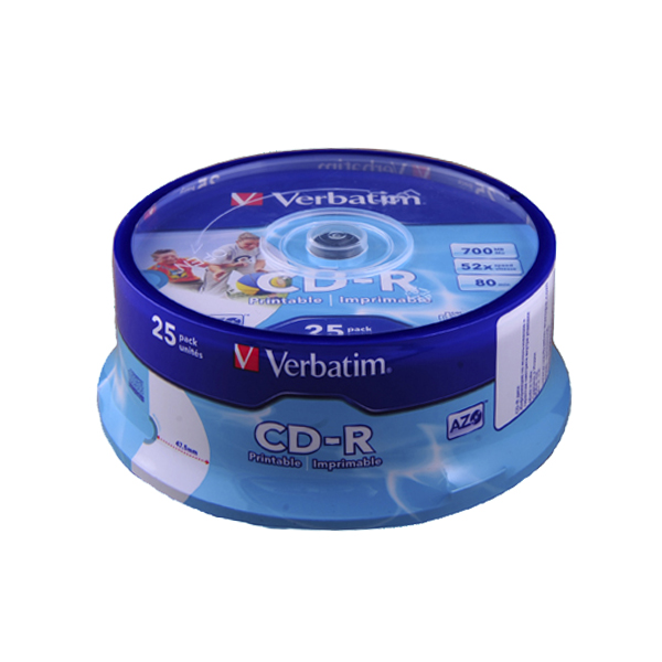 Диск VERBATIM CD-R 80 (25шт./кейкбокс)Диски CD/DVD<br><br><br>Тип: CD-R<br>Объем : 700 Мб