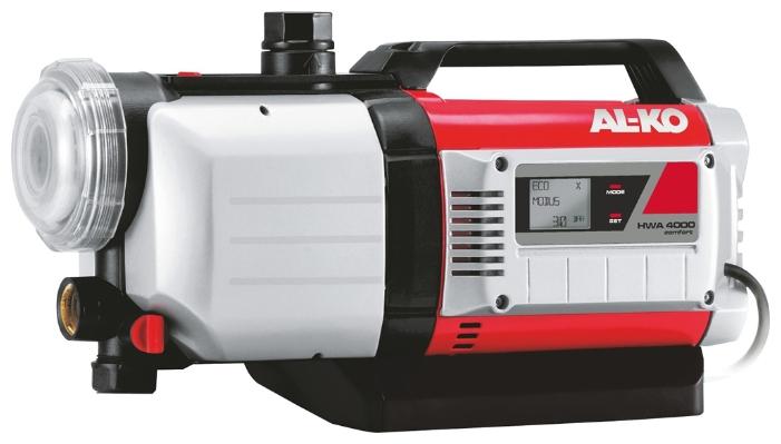 Насос AL-KO HWA 4000 ComfortНасосы<br>- Автоматическая насосная станция - управляемое электроникой водоснабжение в доме и в саду<br>- Идеально подходит для полива грядок и газонов, для подачи воды в оросительных системах и садовых душах, для перекачивания и выкачивания дождевой и водопроводной воды<br>- Несложное введение в эксплуатацию благодаря наличию обратного клапана<br>- Большой , легко очищающийся предварительный фильтр надежно защитит насос от загрязнения<br>- Не нуждающийся в ремонте насос со встроенной защитой от сухого хода.<br>- Безопасность и удобство в использовании благодаря полностью...<br><br>Глубина погружения: 8 м<br>Максимальный напор: 45 м<br>Пропускная способность: 4 куб. м/час<br>Напряжение сети: 220/230 В<br>Потребляемая мощность: 1000 Вт<br>Качество воды: чистая<br>Установка насоса: горизонтальная