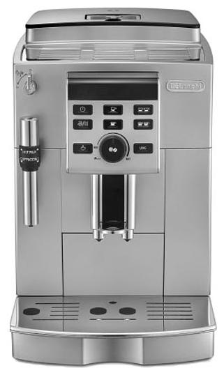 Кофемашина Delonghi ECAM 23.120 SBКофеварки и кофемашины<br>Полностью автоматическая кофемашина DeLonghi ECAM 23.120.SB – это надежный и простой в эксплуатации аппарат, широкие функциональные возможности которого позволяют настроить все ключевые параметры приготовления качественного кофе: объем порции напитка, количество молотого кофе на порцию, качество молочной пены, температуру напитка. Процессы обслуживания кофемашины автоматизированы; электроника аппарата позволяет также программировать включение и выключение, отключает кофеварку при ее простое, поддерживает режим экономии электроэнергии.<br><br>Кофемашины...<br><br>Тип используемого кофе: Зерновой\Молотый<br>Материал корпуса  : Металл<br>Емкость контейнера для зерен, г  : 250<br>Одновременное приготовление двух чашек  : Есть<br>Контейнер для отходов  : Есть<br>Съемный лоток для сбора капель  : Есть