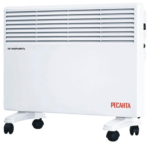 Конвектор Ресанта ОК-1500ЕОбогреватели<br><br><br>Тип: конвектор<br>Максимальная мощность обогрева: 1500 Вт<br>Управление: электронное<br>Регулировка температуры: есть<br>Дисплей: есть<br>Напольная установка: есть<br>Колеса для перемещения: есть<br>Напряжение: 220/230 В