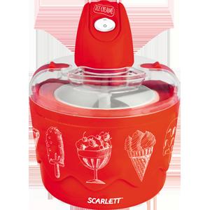 Мороженица Scarlett SC - IM22255Домашние помощники<br>- Легкое управление одной кнопкой<br>- Большая лопасть для перемешивания ингредиентов<br>- Время приготовления 350 мл мороженого – 20 мин<br>- Прозрачная крышка позволяет наблюдать за замешиванием, не открывая мороженицу<br>- Крышка легко разбирается для удобной очистки<br>- Кнопки фиксации крышки делают прибор безопасным для использования детьми<br>- Алюминиевая чаша сохранет температуру от -10° до 0°С в течение 2 часов<br>- Резиновые ножки не скользят и не примерзают к морозильной камере<br><br>Тип: мороженица<br>Мощность, Вт.: 10<br>Объем: 700 мл<br>Цвет: красный