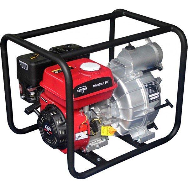 Мотопомпа Elitech МБ 810Д80ГМотопомпы<br>- Предназначена для перекачивания воды из открытых водоемов и резервуаров<br>- Температура перекачиваемой воды должна быть от &amp;#43;5 до &amp;#43;40°С<br>- Мотопомпа не предназначена для перекачивания легковоспламеняющихся, горючесмазочных материалов и нефтепродуктов, а также воды, содержащей длинноволокнистые и химические составляющие<br>4-тактный бензиновый двигатель<br>- Датчик низкого уровня масла<br>- Стандартный ? патрубков<br>