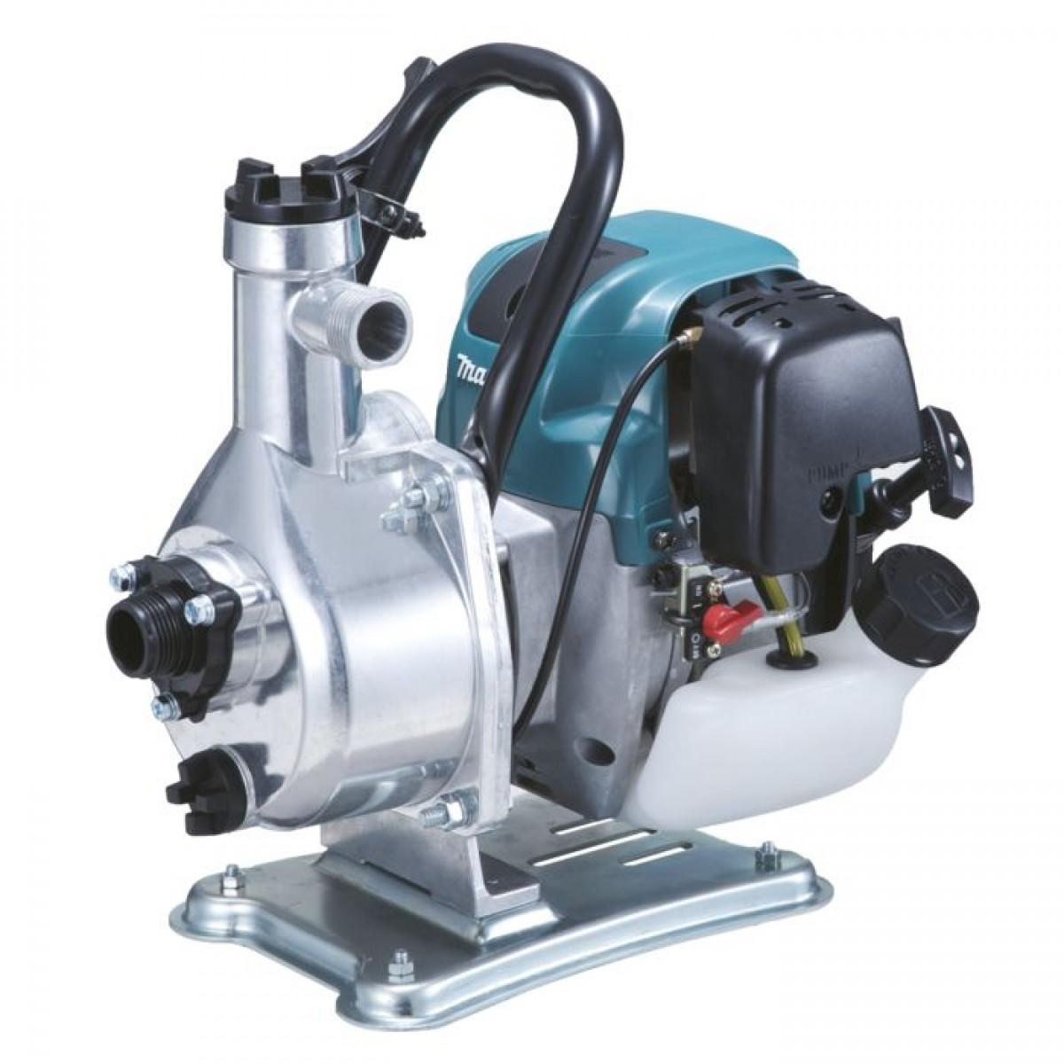 Мотопомпа Makita EW1060HXМотопомпы<br>Мотопомпа Makita EW1060HX - бензиновый самовсасывающий агрегат, используемый для перекачивания чистой воды с целью организации полива, орошения сада, либо опустошения бассейна. Укомплектован двигателем технологии MM4 с низким уровнем выхлопа. Пропускная способность - 130 литров жидкости в минуту. Наличие ручки облегчает переноску мотопомпы.<br><br>Тип: бензиновая