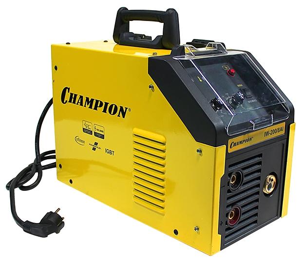 Сварочный аппарат Champion IW-200/8 AIСварочные аппараты<br><br><br>Тип: сварочный инвертор<br>Сварочный ток (MMA): 15-180 А<br>Напряжение на входе: 160-260 В<br>Количество фаз питания: 1<br>Напряжение холостого хода: 60 В<br>Тип выходного тока: постоянный<br>Мощность, кВт: 8.0<br>Продолжительность включения при максимальном токе: 35 %<br>Диаметр электрода: 1.60-5 мм<br>Антиприлипание: есть