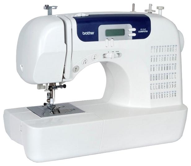 Швейная машина Brother RS-260Швейные машины<br><br><br>Тип: электронная<br>Количество швейных операций: 60<br>Выполнение петли: автомат<br>Число петель: 7<br>Максимальная длина стежка: 5.0 мм<br>Максимальная ширина стежка: 7.0 мм<br>Потайная строчка : есть<br>Эластичная строчка : есть<br>Эластичная потайная строчка: есть<br>Кнопка реверса: есть