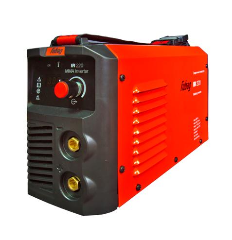 Сварочный аппарат FUBAG IR 220Сварочные аппараты<br>- Компактный и сильный <br>Самый мощный сварочный инвертор в серии IR, способен варить электродами диаметром до 5 мм. При этом он сохранил все преимущества других аппаратов этой серии: малый вес, компактность, отличное качество и лёгкость работы. <br><br>- Панель управления аппаратом <br>Цифровой дисплей отображает значение сварочного тока. Пользователь имеет возможность легкого контроля за параметром и точной настройки в зависимости от решаемых задач. <br><br>- Регулируемый ремень для переноски <br>Мягкий нейлоновый ремень с регулятором длины даёт возможность переносить...<br><br>Тип: сварочный инвертор<br>Сварочный ток (MMA): 5-220 А<br>Напряжение на входе: 150-240 В<br>Количество фаз питания: 1<br>Напряжение холостого хода: 65 В<br>Тип выходного тока: постоянный<br>Мощность, кВт: 9.0<br>Продолжительность включения при максимальном токе: 40 %<br>Диаметр электрода: 1.60-5 мм<br>Класс изоляции: H