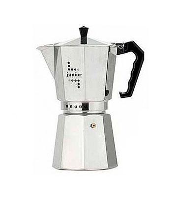 Кофеварка Bialetti Junior 6 п. 33 AluminiumКофеварки и кофемашины<br><br><br>Тип : гейзерная кофеварка<br>Тип используемого кофе: Молотый<br>Объем, л: 0.24<br>Материал корпуса  : Металл