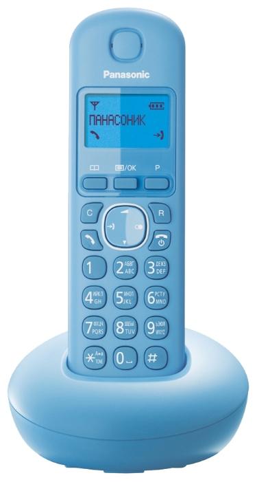 Радиотелефон Panasonic KX-TGB210RUFРадиотелефон Dect<br><br><br>Тип: Радиотелефон<br>Количество трубок: 1<br>Рабочая частота: 1880-1900 МГц<br>Стандарт: DECT<br>Возможность набора на базе: Нет<br>Проводная трубка на базе : Нет<br>Время работы трубки (режим разг. / режим ожид.): 16 / 280 ч<br>Дисплей: на трубке (монохромный с подсветкой), 1 строка<br>Журнал номеров: 50