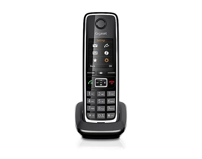 Дополнительная трубка Gigaset C530H BlackРадиотелефон Dect<br><br><br>Тип: Дополнительная радиотрубка<br>Количество трубок: 1<br>Стандарт: DECT/GAP<br>Возможность набора на базе: Нет<br>Проводная трубка на базе : Нет<br>Время работы трубки (режим разг. / режим ожид.): 14/300<br>Дисплей: есть<br>Журнал номеров: 20