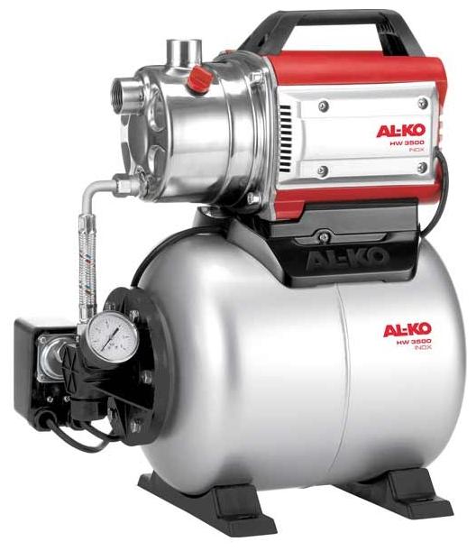 Насос AL-KO HW 3500 Inox ClassicНасосы<br><br><br>Глубина погружения: 8 м<br>Максимальный напор: 38 м<br>Пропускная способность: 3.4 куб. м/час<br>Напряжение сети: 220/230 В<br>Потребляемая мощность: 850 Вт<br>Качество воды: чистая<br>Установка насоса: горизонтальная