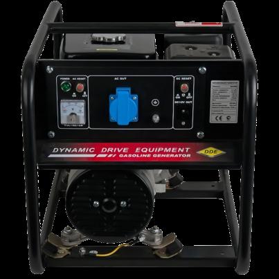 Электрогенератор DDE GG2000Электрогенераторы<br><br><br>Тип электростанции: бензиновая<br>Тип запуска: ручной<br>Число фаз: 1 (220 вольт)<br>Объем двигателя: 196 куб.см<br>Мощность двигателя: 5.5 л.с.<br>Тип охлаждения: воздушное<br>Расход топлива: 0.6 л/ч<br>Объем бака: 3.6 л<br>Тип генератора: синхронный<br>Класс защиты генератора: IP23