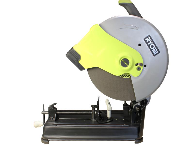 Отрезная пила Ryobi ECO2335HG (3000704)Пилы<br>Отрезная пила Ryobi ECO2335HG 3000704 сконструирована для работ дома и в небольших мастерских. Область применения - выполнение отрезных операций. Работать инструментом безопасно, благодаря наличию специального кожуха и защитного экрана в конструкции.<br><br>- Глубина реза под прямым углом: труба - 115 мм, уголок 137 мм, лист 119 мм;<br>- Индикатор сети информирует о том, что пила включена в розетку;<br>- Для быстрой замены режущего диска в конструкции пилы предусмотрена блокировка шпинделя;<br>- Поворот тисков на 45 градусов для выполнения резов под углом;<br>- Защитный экран - для...<br><br>Тип: отрезная<br>Мощность, Вт: 2300