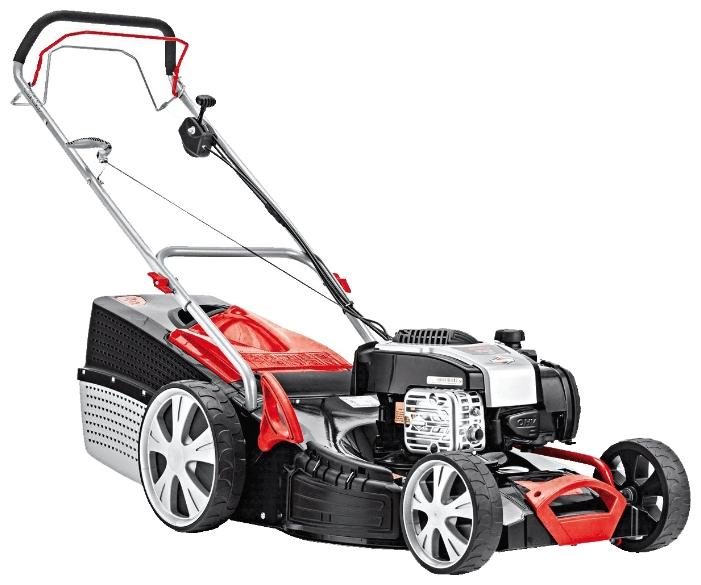Газонокосилка AL-KO 119709 Classic 5.16 VS-B PlusГазонокосилки и триммеры<br><br><br>Тип: газонокосилка самоходная, привод задний<br>Тип двигателя: бензиновый, четырехтактный<br>Ширина скашивания, см: 51<br>Регулировка высоты скашивания: есть<br>Тип травосборника: жесткий<br>Мощность двигателя (Вт): 2400<br>Мощность двигателя (л.с.): 3.20