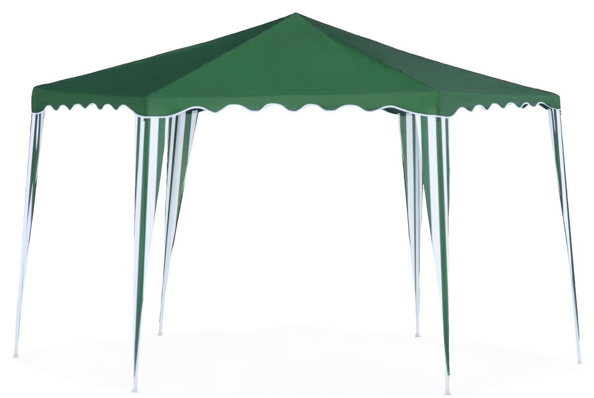 Садовый тент-шатер Green Glade 1009 ZСадовые тенты и шатры<br>- Садовый тент Green glade 1009 Z очень мобилен, легко собирается и разбирается. <br>- Сшит из прочного полиэстера 140 гр., что обеспечивает прочность и износостойкость сооружения. <br>- В верхней части тента расположено окно приточной вентиляции. Изделие можно взять с собой на пикник или в путешествие.<br><br>Тип: Садовый тент-шатер<br>Каркас: металлическая трубка (19/19/25 мм)<br>Размеры упаковки: 115х17х23 см