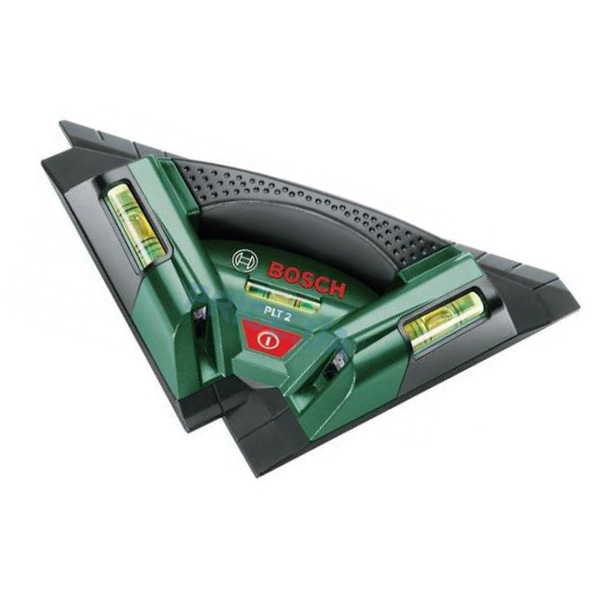 Лазерный нивелир Bosch PLT 2 [0603664020]Измерительные инструменты<br>Специалист по укладке плитки<br><br>Потребительские преимущества<br>- Благодаря двум лазерным лучам под углом 90° обеспечивает быстрое и точное выравнивание при укладке керамической плитки<br>- Простая укладка плитки по прямой или диагонали с помощью трёх уровней<br>- Оптимальная видимость лазерного луча<br><br>Дополнительные преимущества<br>- Функциональная опорная плита<br>- Настенный держатель для быстрого крепления на стене<br>- Простое управление<br>
