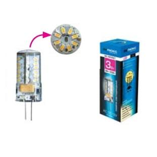 Светодиодная лампа ВИКТЕЛ BK-4B3EET G4, 3000KСветодиодные лампы<br><br><br>Тип: светодиодная лампа<br>Тип цоколя: E27<br>Рабочее напряжение, В: 220<br>Мощность, Вт: 3<br>Мощность заменяемой лампы, Вт: 35<br>Световой поток, Лм: 200<br>Цветовая температура, K: 3000<br>Угол раскрытия, °: 360
