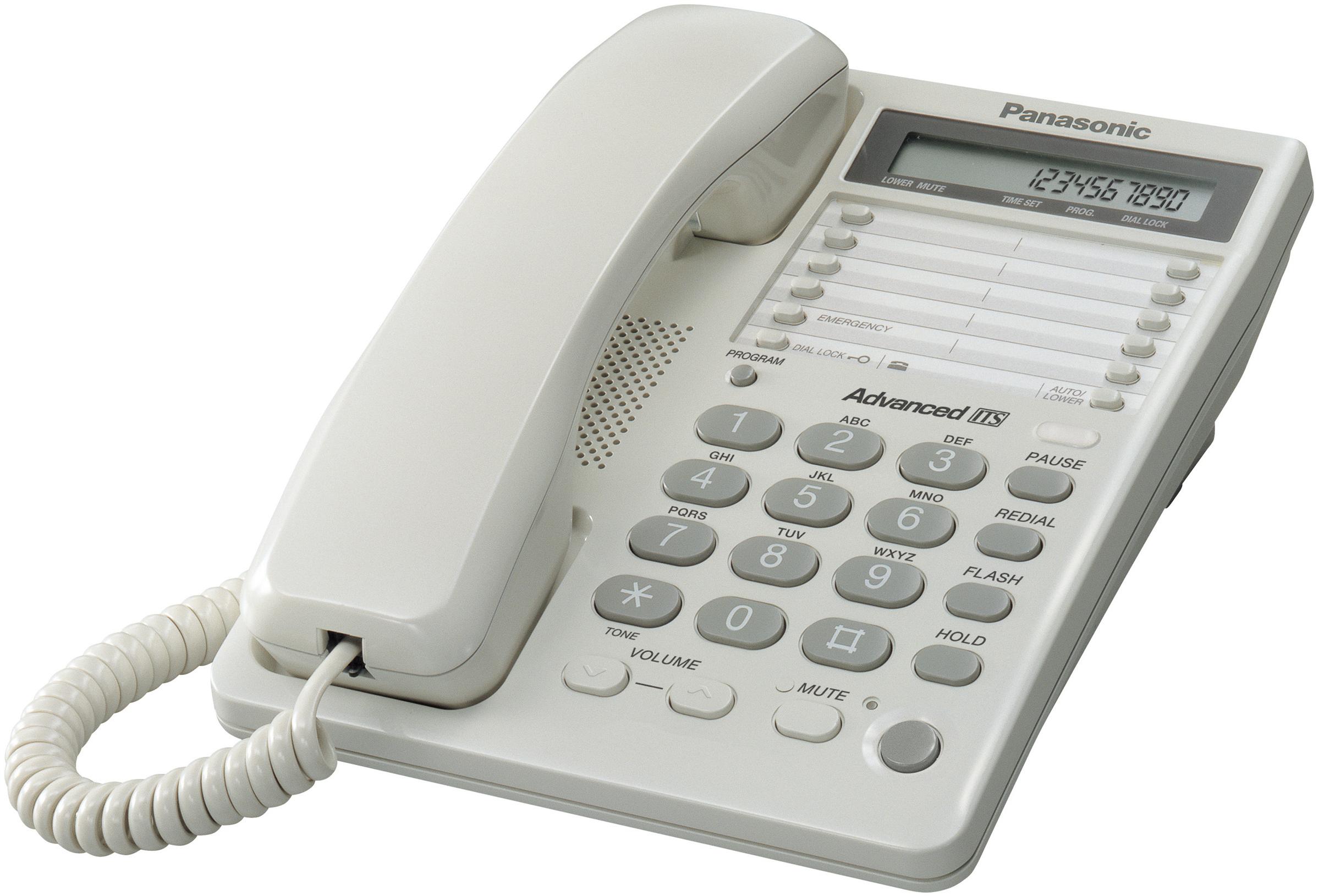 Проводной телефон Panasonic KX-TS2365RUWПроводные телефоны<br>Panasonic kx ts2365ruw: для деловых людей.<br>Деловому человеку, который ценит свое время и свой комфорт, просто необходим такой же деловой телефон. Притом телефон должен быть удобным, функциональным, современным, стильным и, конечно, надежным. Где купить такой аппарат? Разумеется, на сайте нашего интернет-магазина technomart.ru!<br>Проводной телефон Panasonic kx ts2365ruw полностью отвечает всем самым современным требованиям к устройству для качественной, быстрой и комфортной связи. Однокнопочный набор номера, переадресация, автодозвон, тональный набор, отключение звонка...<br><br>Тип: проводной телефон<br>Дисплей: есть<br>Органайзер: есть<br>Громкая связь (спикерфон): есть<br>Разъем для гарнитуры: есть<br>Количество линий : 1<br>Память (количество номеров): 30<br>Однокнопочный набор (количество кнопок): 20<br>Переадресация (Flash): есть<br>Повторный набор номера: есть