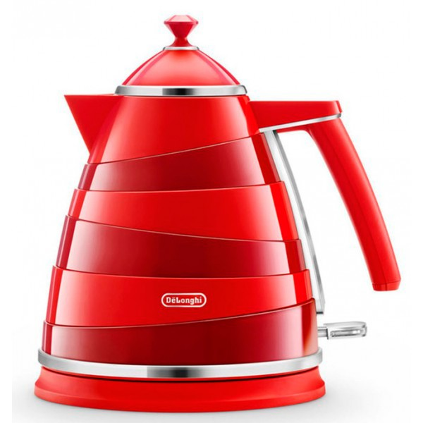 Электрочайник Delonghi KBA 2001 RedЧайники и термопоты<br>Электрический чайник DeLonghi KBA 2001 отличается оригинальным дизайном и цветовым решением, что делает его яркой деталью кухонного интерьера.<br><br>Съемный фильтр надежно очищает воду от накипи. Индикатор уровня воды отображает количество жидкости, что обеспечивает удобство использования.<br><br>Автоматическое отключение при закипании и защита от перегрева гарантируют безопасность работы прибора.<br><br>Тип   : Электрочайник<br>Объем, л  : 1.7<br>Мощность, Вт  : 2000<br>Тип нагревательного элемента: Закрытая спираль<br>Материал корпуса  : нержавеющая сталь<br>Индикатор уровня воды  : Есть<br>Блокировка включения без воды  : Есть<br>Фильтр  : Есть<br>Отсек для хранения шнура: Есть