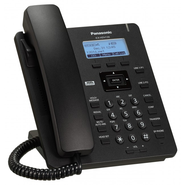 VoIP-телефон Panasonic KX-HDV130RUBSIP-телефоны<br><br><br>Тип: VoIP-телефон<br>Поддержка SIP: есть<br>Интерфейсы: WAN, LAN<br>Встроенная телефонная книг: 500 контактов<br>Конференц-связь: есть<br>Web-интерфейс: есть