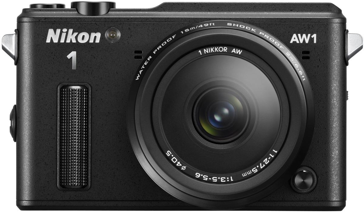 Цифровой фотоаппарат Nikon 1AW1 BK S AW 11-27.5 mmЦифровые фотоаппараты<br><br><br>Вспышка: Есть<br>Цвет: Чёрный<br>Материал корпуса: Металл<br>Кроп фактор: 2.7<br>Тип матрицы: CMOS<br>Размер матрицы: 1 (13.2 x 8.8 мм)<br>Количество эффективных мегапикселей: 14.2<br>Чувствительность: 160 - 3200 ISO, Auto ISO