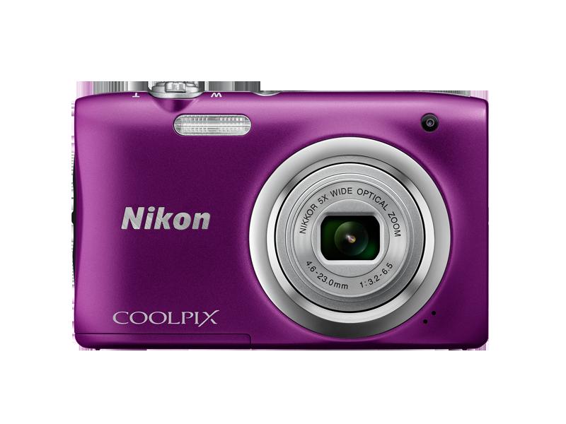 Цифровой фотоаппарат  Nikon Coolpix A100 PurpleЦифровые фотоаппараты<br><br><br>Тип: Цифровой Фотоаппарат<br>Оптическое увеличение: 5<br>Носители информации: micro SD, micro SDHC, micro SDXC<br>Видеорежим: Есть<br>Звук в видеоклипе: Есть<br>Вспышка: Есть<br>Цвет: Фиолетовый<br>Кроп фактор: 5.62<br>Тип матрицы: CCD<br>Размер матрицы: 1/2.3
