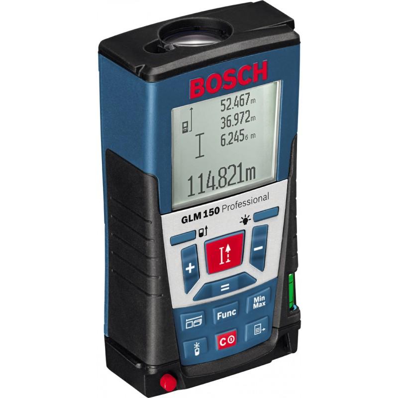 Лазерный дальномер Bosch GLM 50 С [0601072000]Измерительные инструменты<br>- Новые функции: определение высоты различных сегментов, расчет высоты и уклона скатов крыши<br>- Измерение длины, площади и объема на расстоянии до 150 м с точностью до миллиметра<br>- Простое управление, интуитивно понятный пользовательский интерфейс и большой 4-строчный дисплей с подсветкой<br>- Высочайшая точность в течение всего срока службы благодаря износостойким оптическим держателям из керамики<br>- IP 54: защита от пыли и водяных брызг всего инструмента, включая отсек для элементов питания<br>- Многофункциональный выдвижной нивелировочный штифт для...<br>