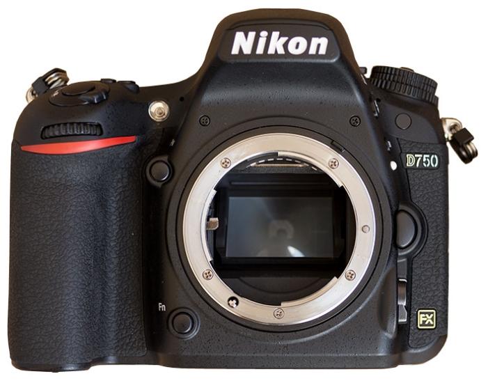 Зеркальный фотоаппарат Nikon D750 Body BKЦифровые зеркальные фотоаппараты<br><br><br>Носители информации: SD, SDHC, SDXC<br>Видеорежим: есть<br>Звук в видеоклипе: есть<br>Вспышка: есть<br>Кроп фактор: 1<br>Тип матрицы: CMOS<br>Размер матрицы: Full frame (35.9 x 24 мм)<br>Число эффективных пикселов, Mp: 24.3 млн<br>Чувствительность: 100 - 3200 ISO, Auto ISO<br>Режимы замера экспозиции: с приоритетом затвора, с приоритетом диафрагмы
