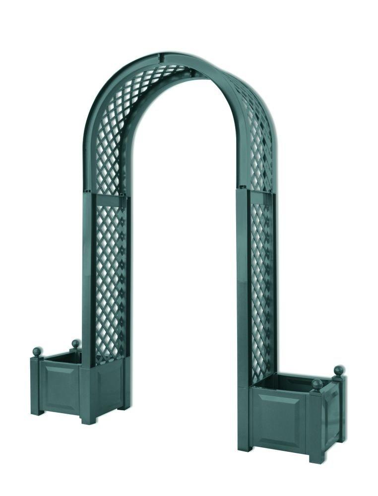 Садовая арка KHW 37603 GreenСадовые конструкции<br><br><br>Тип: садовая арка<br>Объем, л: 2х 44<br>Материал : полипропилен<br>Ящик для растений: есть