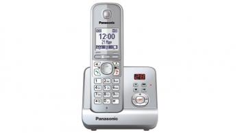 Радиотелефон Panasonic KX-TG6721RUSРадиотелефон Dect<br><br><br>Тип: Радиотелефон<br>Количество трубок: 1<br>Рабочая частота: 1880-1900 МГц<br>Стандарт: DECT/GAP<br>Время работы трубки (режим разг. / режим ожид.): 15 /170<br>Полифонические мелодии: 40<br>Дисплей: на трубке (монохромный с подсветкой)<br>Подсветка кнопок на трубке: Есть<br>Журнал номеров: 50