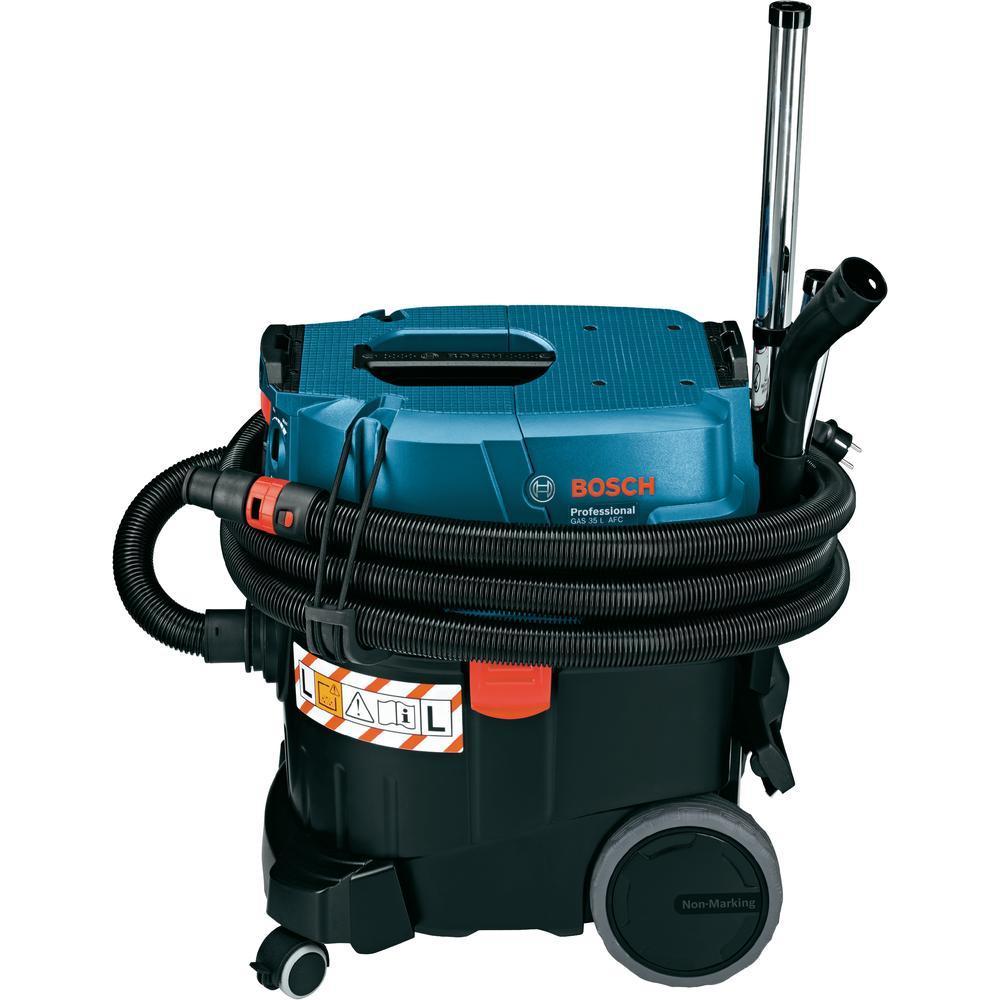 Строительный пылесос Bosch GAS 35 L AFC [06019C3200]Пылесосы<br>Универсальный пылесос Bosch Professional GAS 35 L AFC сертифицированный по классу L, для влажного и сухого мусора с полуавтоматической очисткой фильтра.<br><br>Особенности:<br>- Автоматика дистанционного выключения<br>- Автоматическая система очистки фильтра<br>- Плавная регулировка силы всасывания на пылесосе и на муфте<br>- Ограничение пускового тока<br>- Крепление для установки кейсов L-BOXX<br>- Компактные размеры<br><br>Тип: Строительный пылесос<br>Потребляемая мощность, Вт: 1200<br>Тип уборки: Сухая\влажная<br>Регулятор мощности на корпусе: Есть<br>Пылесборник: Мешок<br>Емкостью пылесборника : 35 л