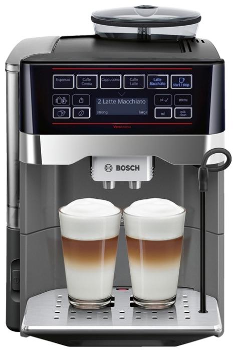 Кофемашина Bosch TES 60523 RWКофеварки и кофемашины<br><br><br>Тип : зерновая кофемашина<br>Тип используемого кофе: Зерновой\Молотый<br>Мощность, Вт: 1500<br>Объем, л: 1.7<br>Давление помпы, бар  : 19<br>Встроенная кофемолка: Есть<br>Емкость контейнера для зерен, г  : 300<br>Контейнер для отходов  : Есть<br>Съемный лоток для сбора капель  : Есть