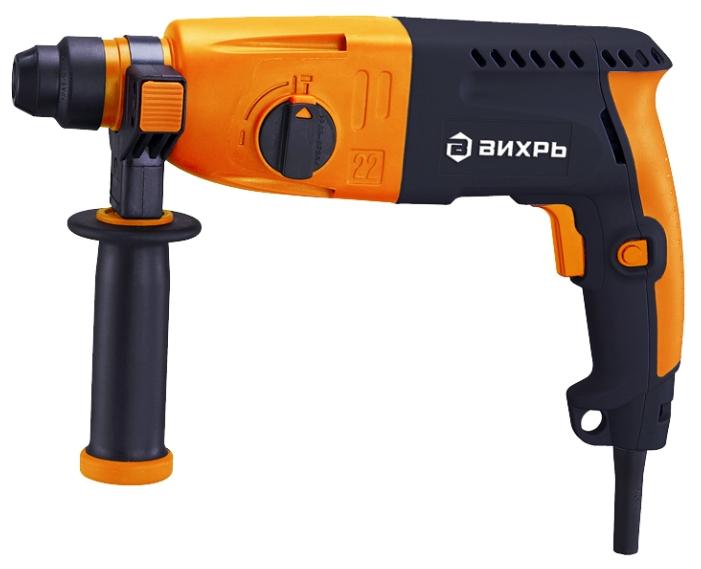 Перфоратор Вихрь П-650КПерфораторы<br><br><br>Тип крепления бура: SDS-Plus<br>Количество скоростей работы: 1<br>Потребляемая мощность: 650 Вт<br>Макс. энергия удара: 1.5 Дж<br>Макс. диаметр сверления (дерево): 30 мм<br>Макс. диаметр сверления (металл): 12 мм<br>Макс. диаметр сверления (бетон): 22 мм<br>Питание: от сети<br>Возможности: электронная регулировка частоты вращения