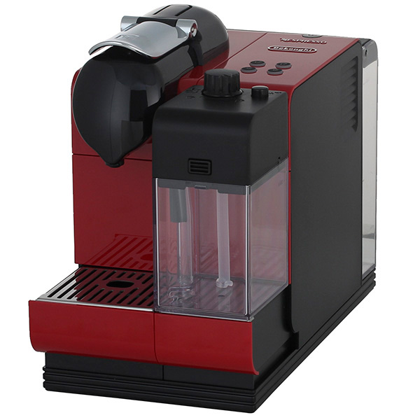 Кофемашина Delonghi Nespresso EN521.RКофеварки и кофемашины<br>Капсульная кофемашина Nespresso, выполненная в современном дизайне и оснащенная запатентованной автоматической системой приготовления капучино De'Longhi. Одним нажатием кнопки вы получаете все ваши любимые напитки: эспрессо, капучино и латте макиато.<br><br>- Запатентованная система автокапучино &amp;#40;IFD&amp;#41;<br>Запатентованная система IFD позволяет получить великолепный капучино или латте макиато, с возможностью выбора плотности молочной пены. Автоматическая промывка системы от остатков молока. После использования, емкость можно хранить в холодильнике.<br>- Система...<br><br>Тип используемого кофе: Капсулы<br>Мощность, Вт: 1300<br>Объем, л: 0.9<br>Давление помпы, бар  : 19<br>Материал корпуса  : Пластик<br>Съемный лоток для сбора капель  : Есть
