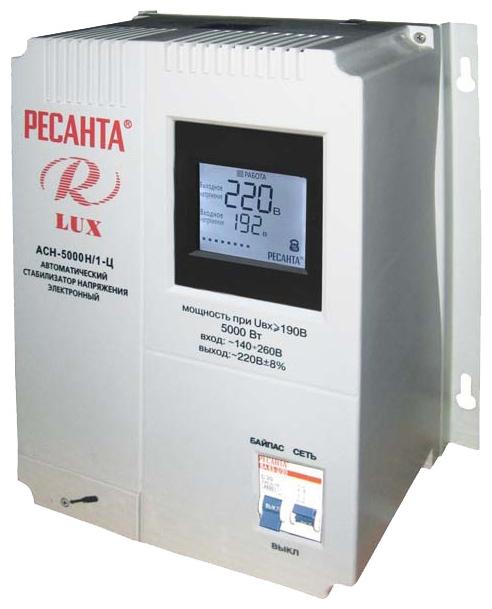 Стабилизатор напряжения Ресанта LUX АСН-5000Н/1-ЦСтабилизаторы напряжения<br><br><br>Тип: стабилизатор напряжения