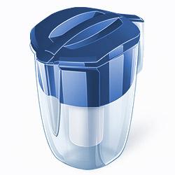 Кувшин Аквафор Кантри BlueФильтры и умягчители для воды<br>Этот фильтр кувшинного типа имеет большой объем воронки и кувшина. Это позволяет пользоваться им вдали от водопровода, например на даче. Материал корпуса: SAN-пластик. Материал корпуса сменного модуля: полипропилен.<br><br>Тип: фильтр-кувшин<br>Тип фильтра: кувшин<br>Подключение к водопроводу: нет<br>Ресурс стандартного фильтрующего модуля: 300 л<br>Помпа для повышения давления: нет<br>Максимальная производительность л/мин.: 0,6