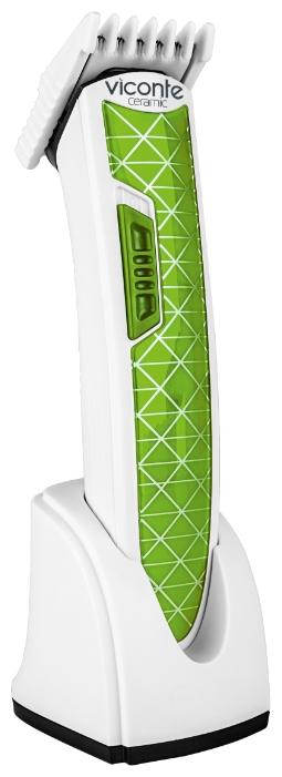Машинка для стрижки Viconte VC-465 GreenМашинки для стрижки и триммеры<br><br><br>Тип : Универсальная<br>Время работы, мин: 35<br>Длина стрижки, мм: 6 - 17