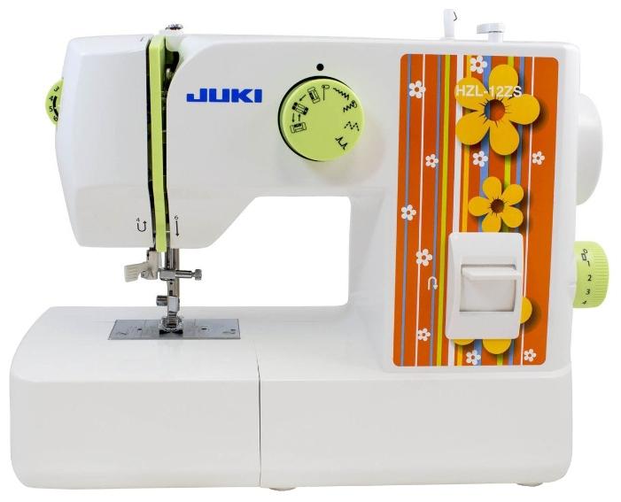 Швейная машина Juki HZL-12ZSШвейные машины<br>Электромеханические швейные машины &amp;#40;машины с механическим выбором швов&amp;#41; – отличный вариант как для профессиональной швеи, так и для новичка. Они компактны, просты в эксплуатации и имеют доступную стоимость. Вид шва выбирается с помощью специального колесика, которое расположено на передней панели изделия. Простота работы обусловлена тем, что необходимые операции подписаны на корпусе машины, что предотвращает возможные затруднения.<br><br>Швейная машина JUKI HZL-12ZS имеет необходимый набор рабочих программ, светодиодное освещение, нитевдеватель,...<br><br>Тип: электромеханическая<br>Тип челнока: качающийся<br>Вышивальный блок: нет<br>Количество швейных операций: 12<br>Выполнение петли: полуавтомат<br>Максимальная длина стежка: 4.0 мм<br>Максимальная ширина стежка: 5.0 мм<br>Потайная строчка : есть<br>Эластичная строчка : есть<br>Кнопка реверса: есть