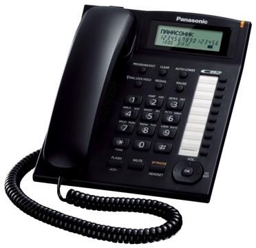 Проводной телефон Panasonic KX-TS2388RUBПроводные телефоны<br>Panasonic kx ts2388rub: обращаемся к классике.<br>Иногда лучше не стараться изобрести что-то новое, а просто обратиться к проверенной классике. Например, как в случае проводного телефона Panasonic kx ts2388rub. Этот элегантный телефон с корпусом из красивого черного пластика одинаково хорошо, как для рабочего, так и для домашнего общения.<br>Перед вами комплект всех необходимых функций: органайзер, АОН и Caller ID, спикерфон, тональный набор, переадресация, удержание линии и возможность однокнопочного набора. Абсолютно все, что может вам пригодиться и обязательно пригодится...<br><br>Тип: проводной телефон<br>Дисплей: есть<br>Органайзер: есть<br>АОН/Caller ID: есть/есть<br>Громкая связь (спикерфон): есть<br>Однокнопочный набор (количество кнопок): 20<br>Переадресация (Flash): нет<br>Повторный набор номера: есть<br>Тональный набор: есть<br>Блокировка набора номера: есть