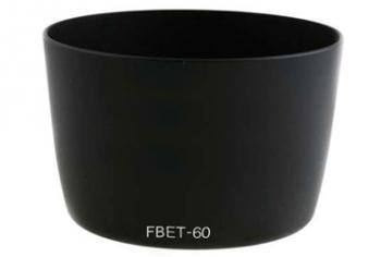 Бленда Fujimi FBET60Аксессуары для фототехники<br><br><br>Цвет : черный<br>Дополнительно: может быть использована с объективом Canon EF-S 55-250 F/4-5.6 IS, EF 75-300mm f/4.0-5.6, EF90-300 mm f/4.5-5.6