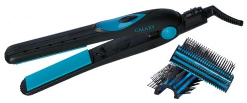 Щипцы Galaxy GL 4511Фены и щипцы<br>Щипцы-расческа Galaxy GL4511 обеспечивают бережную укладку и объем за счет использования керамического покрытия рабочей поверхности.<br><br>Особенности<br>- Широкие пластины и высокая температура нагрева способствуют укладке волос любой длины и густоты.<br>- Рабочая поверхность не пересушивает и не повреждает структуру волос, сохраняя волосы здоровыми и блестящими.<br>- Съемные насадки-расчески открывают широкую<br><br>Тип: Щипцы<br>Мощность, Вт: 50<br>Максимальная температура нагрева, С.: 200<br>Насадки в комплекте: щетка, для выпрямления<br>Диаметр щипцов для завивки, мм: диаметр 45 мм<br>Керамическое покрытие насадок: Есть<br>Индикация включения: Есть<br>Защита от перегрева: Есть<br>Вращение шнура: Есть