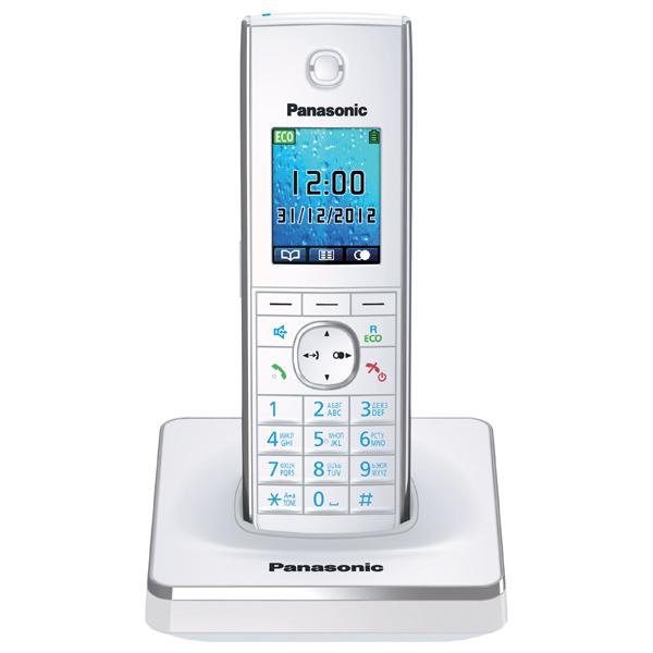 Радиотелефон Panasonic KX-TG8551RUWРадиотелефон Dect<br><br><br>Тип: Радиотелефон<br>Количество трубок: 1<br>Рабочая частота: 1880-1900 МГц<br>Стандарт: DECT/GAP<br>Радиус действия в помещении / на открытой местност: 50/300<br>Возможность набора на базе: Нет<br>Проводная трубка на базе : Нет<br>Время работы трубки (режим разг. / режим ожид.): 12/250<br>Полифонические мелодии: 40<br>Дисплей: цветной TFT