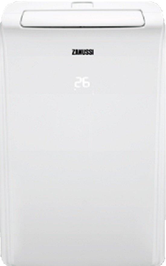 Мобильный кондиционер Zanussi ZACM-12 MS/N1Кондиционеры<br>Zanussi ZACM-12 MS/N1: свежий воздух без лишних затрат.<br>Как добиться того, чтобы в офисе и в квартире был всегда свежий воздух, но при этом не тратиться на дорогой кондиционер? Все очень просто, сделайте выбор в пользу покупки мобильного кондиционера. Как раз такой сейчас прямо перед вами — мобильный кондиционер Zanussi ZACM-12 MS/N1.<br>Такое название этот кондиционер получил неслучайно. Он, действительно, занимает удивительно мало места, ведь его габариты всего лишь 43,5х71,5х35 см. Функция охлаждения, режим вентиляции, автоматический режим работы, дистанционное управление,...<br><br>Мощность в режиме охлаждения, Вт: 2.6<br>Потребляемая мощность при охлаждении, Вт: 1100<br>Тип хладагента: R 410A