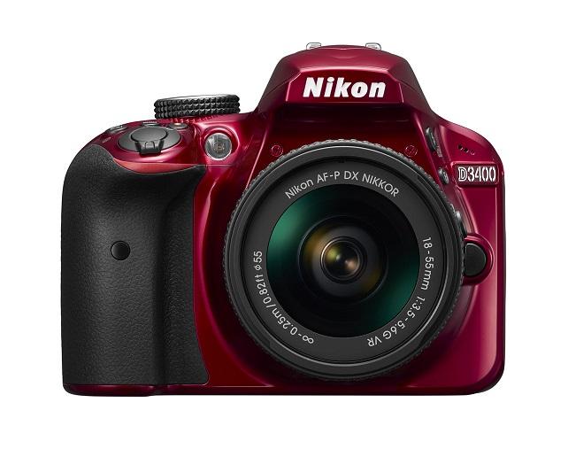 Зеркальный фотоаппарат Nikon D3400 18-55 P VR KIT RedЦифровые зеркальные фотоаппараты<br>Зеркальный фотоаппарат Nikon D3400 kit &amp;#40;18-55mm VR&amp;#41; Black выполнен в корпусе из качественного пластика. Модель получила решение в классическом черном цвете. Поверхности камеры имеют приятное шероховатое покрытие и позволяют более надежно фиксировать аппарат в руках. Удобный хват в сочетании с эргономичным расположением клавиш управления обеспечивает рациональное использование устройства. Вес камеры составляет 430 г.<br><br>- Матрица<br>Зеркальный фотоаппарат от Nikon получил CMOS матрицу с разрешением 24.2 Мп. Уровень светочувствительности может быть выбран автоматически...<br><br>Тип: Цифровая зеркальная фотокамера<br>Стабилизатор изображения: нет<br>Вспышка: есть<br>Кроп фактор: 1.5<br>Тип матрицы: CMOS<br>Число эффективных пикселов, Mp: 24.2 млн<br>Чувствительность: 100 - 3200 ISO, Auto ISO<br>Фокусировка: ручная<br>Режимы замера экспозиции: мультизонный, центровзвешенный, точечный<br>Экспокоррекция: +/- 5 EV с шагом 1/3 ступени