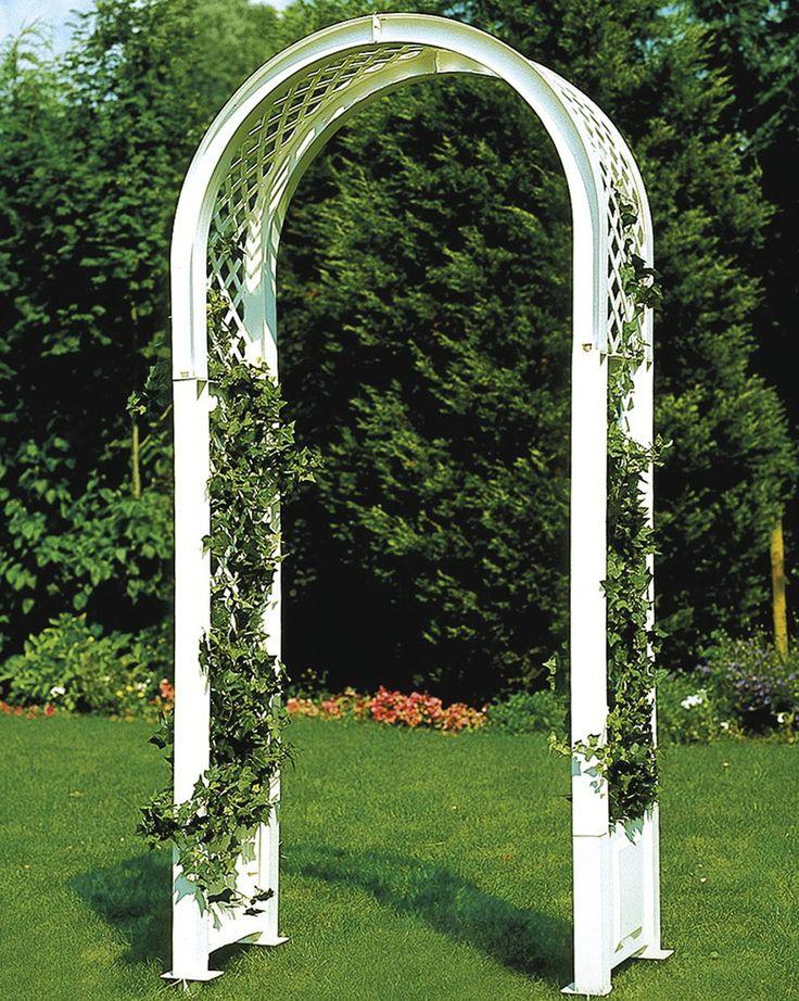 Садовая арка KHW 37901 WhiteСадовые конструкции<br>Декоративная садовая арка KHW применяется в оформлении ландшафта участка, так как позволяет создать уникальный и ухоженный вид садовому участку. Арка применяется для оформления садовых дорожек, входа в дом или веранду. Она станет одной из самых красивых украшений сада. <br><br>Садовая арка KHW представляет собой решетчатую конструкцию, изогнутую в виде арки. Такое изделие отлично подойдет для вьющихся растений. В основании арки имеются штыри для прочной установки ее в землю. <br><br>Материал, из которого изготовлена арка KHW - полипропилен, не требует особого...<br><br>Тип: садовая арка<br>Материал : полипропилен<br>Ящик для растений: нет