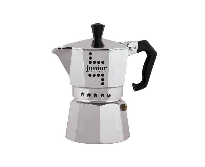 Кофеварка Bialetti Junior 3 п. 32 AluminiumКофеварки и кофемашины<br><br><br>Тип : гейзерная кофеварка<br>Тип используемого кофе: Молотый<br>Объем, л: 0.12<br>Материал корпуса  : Металл