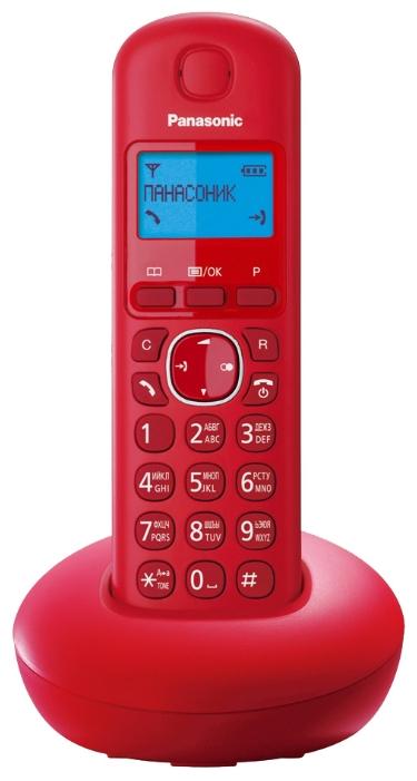 Радиотелефон Panasonic KX-TGB210RURРадиотелефон Dect<br><br><br>Тип: Радиотелефон<br>Количество трубок: 1<br>Рабочая частота: 1880-1900 МГц<br>Стандарт: DECT<br>Возможность набора на базе: Нет<br>Проводная трубка на базе : Нет<br>Время работы трубки (режим разг. / режим ожид.): 16 / 280 ч<br>Дисплей: на трубке (монохромный с подсветкой), 1 строка<br>Журнал номеров: 50